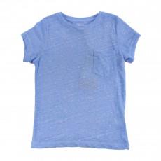 T-shirt Chiné Fadi Bleu azur
