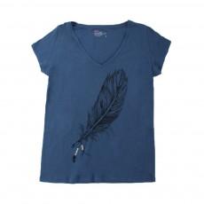 T-shirt Plume Tintin Bleu