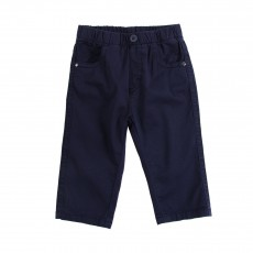 Pantalon Taille Elastique Bleu marine