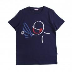 T-shirt Baseball Bleu nuit