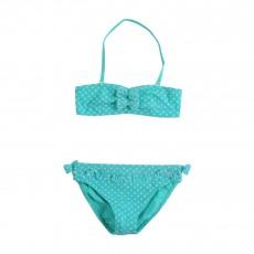 Bikini Pois Vert d'eau