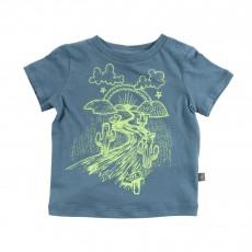 T-shirt Chuckle Bleu