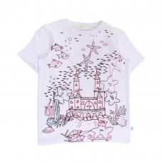 T-shirt Château-Etoiles De Mer Arlo Blanc