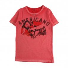 """T-shirt Comics """"Americano""""  Rouge"""