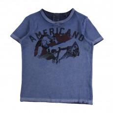 """T-shirt Comics """"Americano""""  Bleu"""