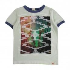 T-shirt Graphique Palmiers Vert pâle