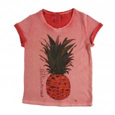 T-shirt Ananas Rose pêche