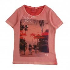 T-shirt Surf Et Soleil Rose pêche