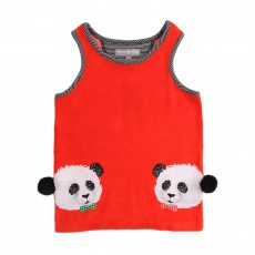 Débardeur Eponge Panda Twins Rouge