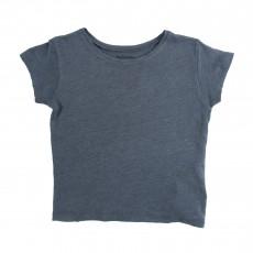 T-shirt Lin Moun Bleu chiné