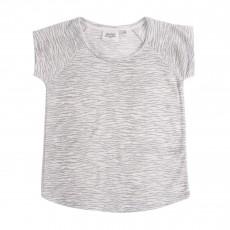 T-shirt Lin Zébré Gris clair