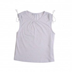 T-shirt Moucheté Ecru