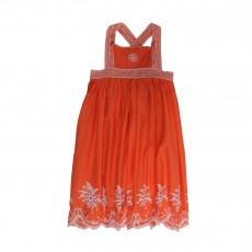 Robe Brodée Lily Tangerine