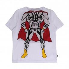T-shirt Super Héros Arlo Blanc