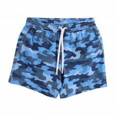 Short De Bain Camouflage Bleu