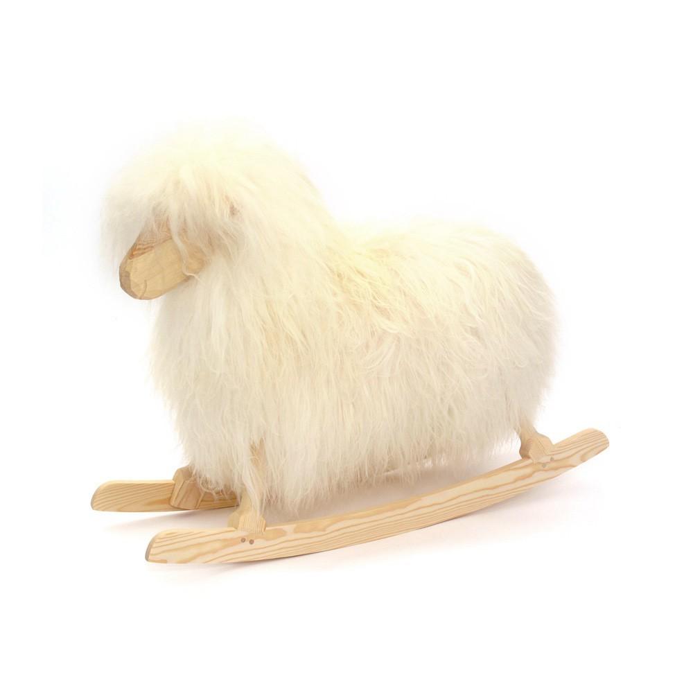 mouton bascule blanc danish crafts jeux jouets. Black Bedroom Furniture Sets. Home Design Ideas