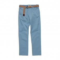 Pantalon Chino Avec Ceinture Bleu ciel