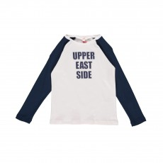 "T-shirt Bicolore ""Upper East Side"" Blanc"