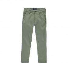 Pantalon Chino Vert kaki chiné