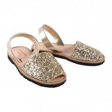 Sandales Avarca Paillettes Doré