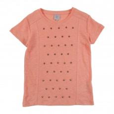 T-shirt Tenebry Rose pêche