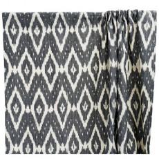 Rideau en coton Ikat - Gris anthracite