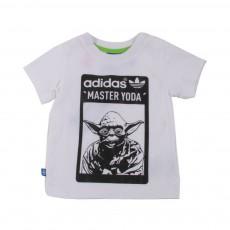 T-shirt Yoda Blanc
