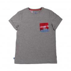 T-shirt Poche Tie&Dye Gris chiné