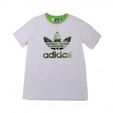 T-shirt Logo Yoda Blanc