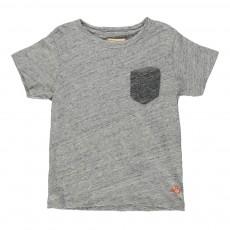 T-shirt Chiné Poche Casti Gris clair