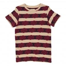 T-shirt Jacquard Ethnique Sonic Rouge
