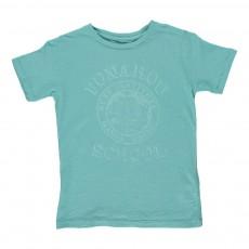 """T-shirt """"Punahou School"""" Vert d'eau"""