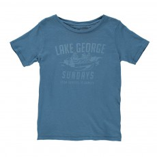 "T-shirt ""Lake George"" Bleu chiné"