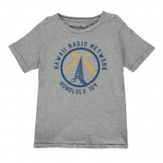 "T-shirt ""Hawaii Radio Network"" Gris"