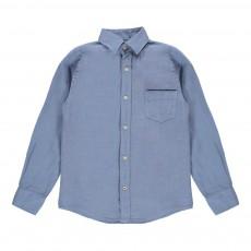 Chemise En Lin Bleu gris