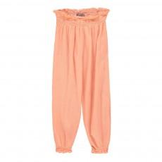Pantalon Crépon Abricot