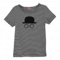 T-shirt Rayé Chapeau Gris foncé