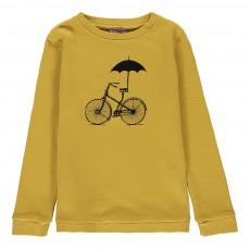 Sweat Vélo Parapluie Ocre
