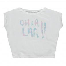 "T-shirt ""Oh La Laa"" Izzaoh Blanc"