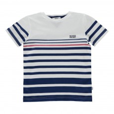 T-Shirt marinière Blanc