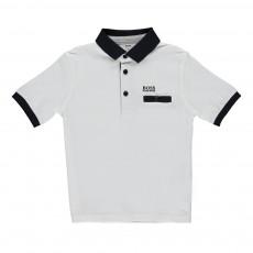 Polo Coton Jersey Blanc