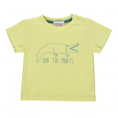 T-shirt Crocodile Jaune