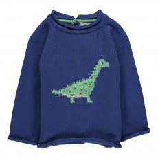 Pull Dinosaure Bleu