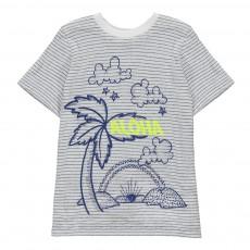 T-shirt Rayé Palmier Arlo Bleu