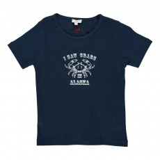 "T-shirt ""Crabs In Alaska"" Bleu indigo"