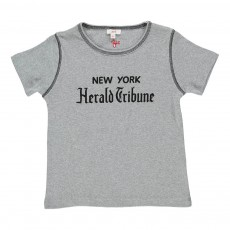 "T-shirt ""New York Herald Tribune"" Gris"