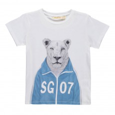 T-shirt Bass Workout Lion Blanc
