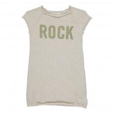 """Robe Maille """"Rock"""" Strass Ecru"""