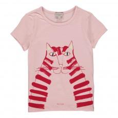 T-shirt Phosphorescent Chat Hectoria Rose poudré