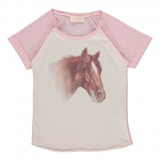 T-shirt Bicolore Cheval Rose